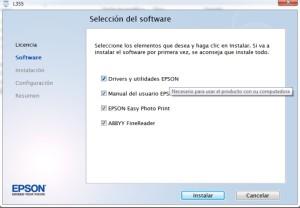 Descargar driver epson l355/ Instalador Epson L355