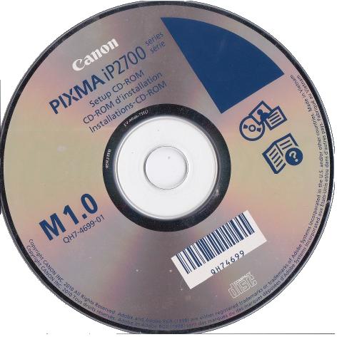 descargar disco instalacion canon ip2700