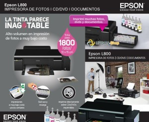 Caracteristicas del Impresor Epson L800 Ecotank